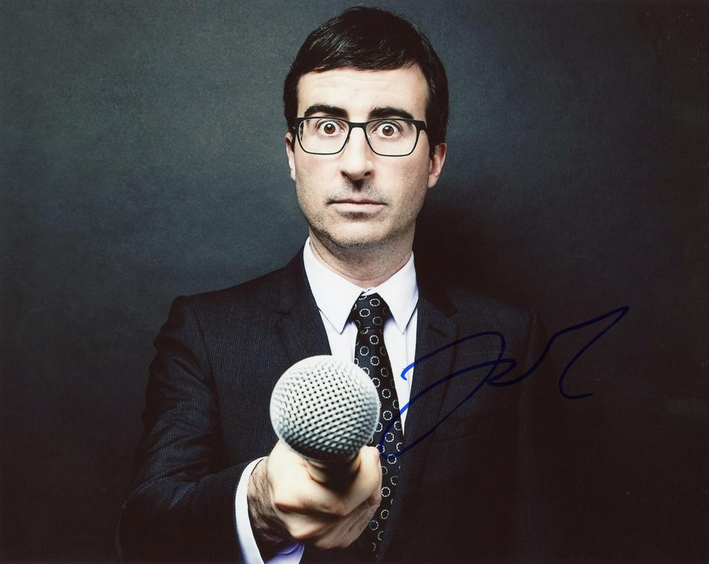 John Oliver Signed Photo