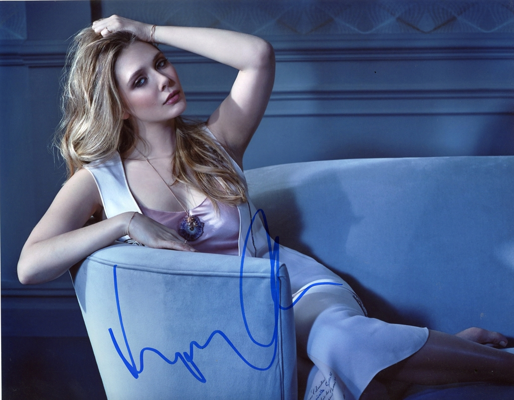 Elizabeth Olsen Signed Photo
