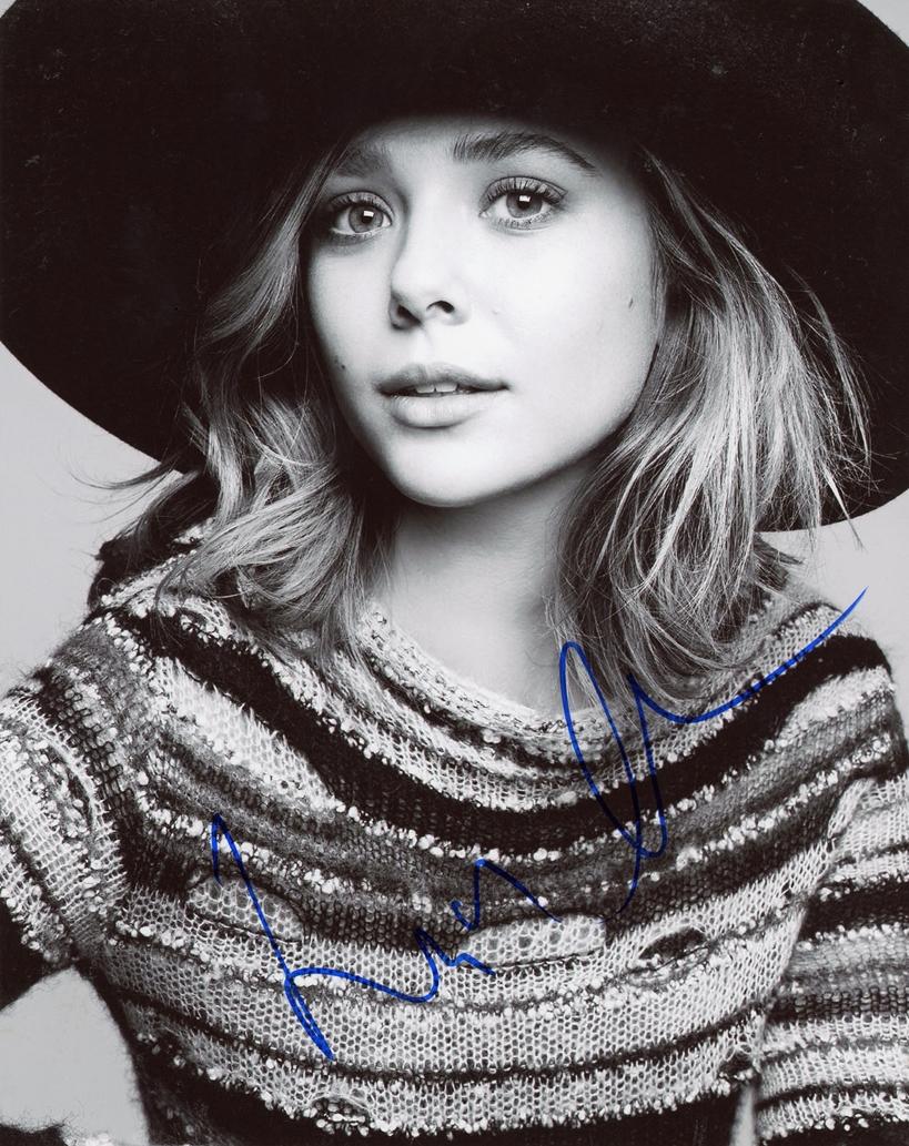 Elizabeth Olsen Signed Photo