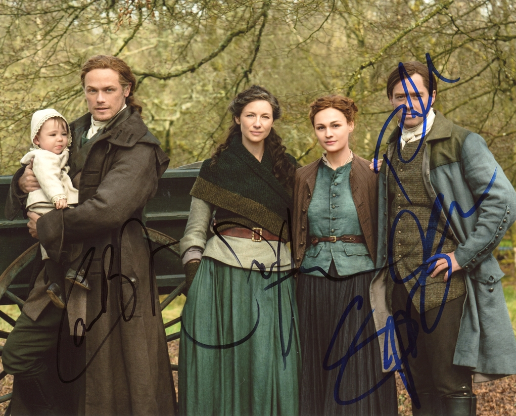 Caitriona Balfe & Sam Heughan Signed Photo
