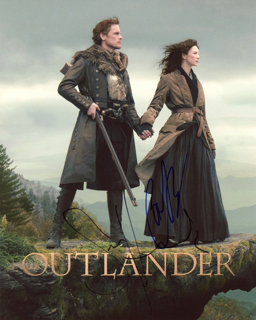 Caitriona Balfe & Sam Heugha Signed Photo