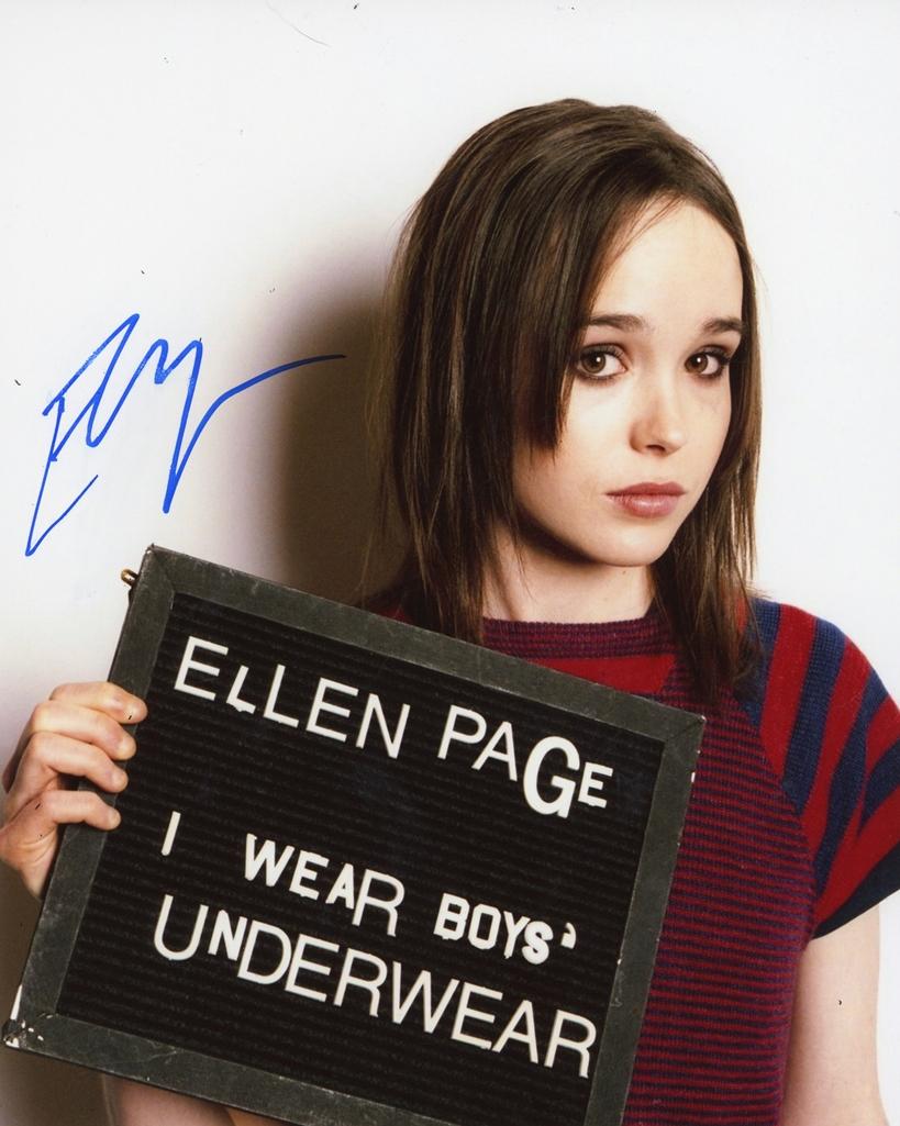 Ellen Page Signed Photo