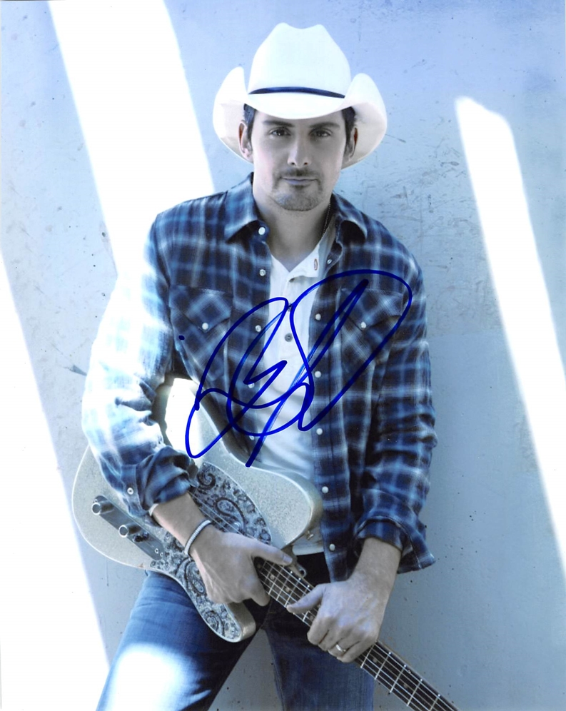 Brad Paisley Signed Photo