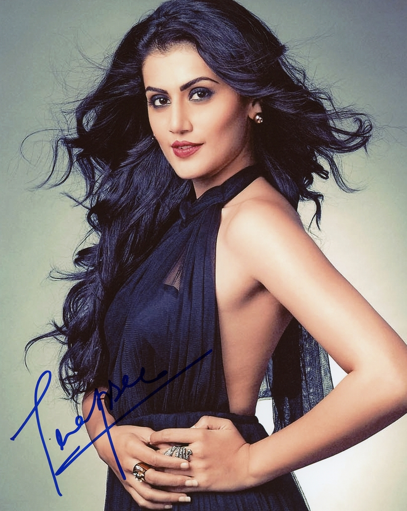 Taapsee Pannu Signed Photo