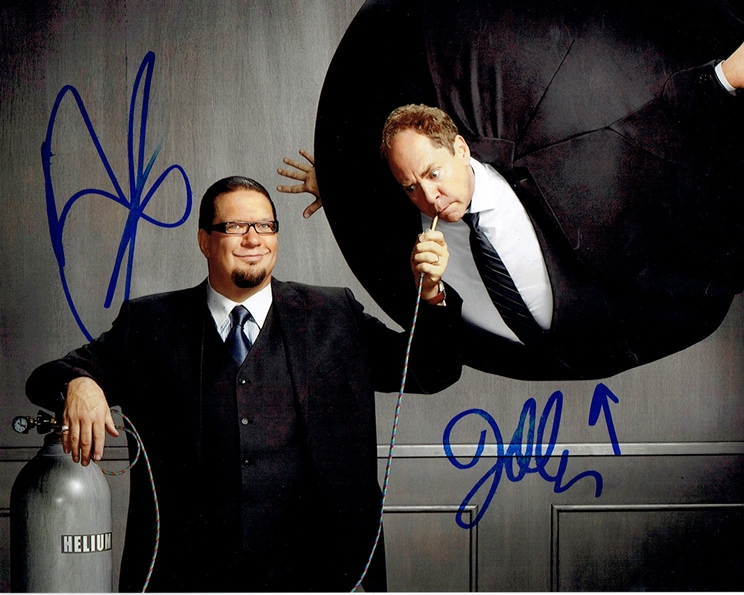 Penn & Teller Signed Photo