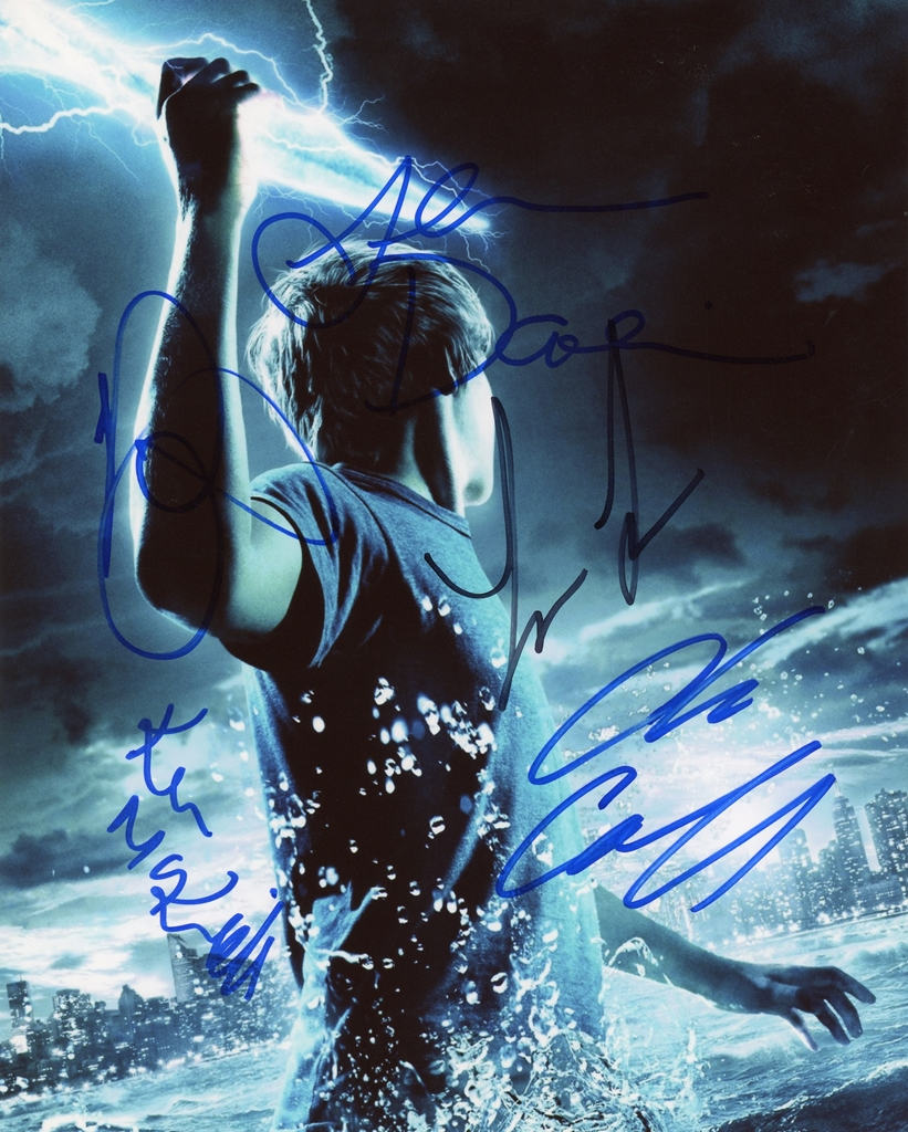 Percy Jackson Signed Photo
