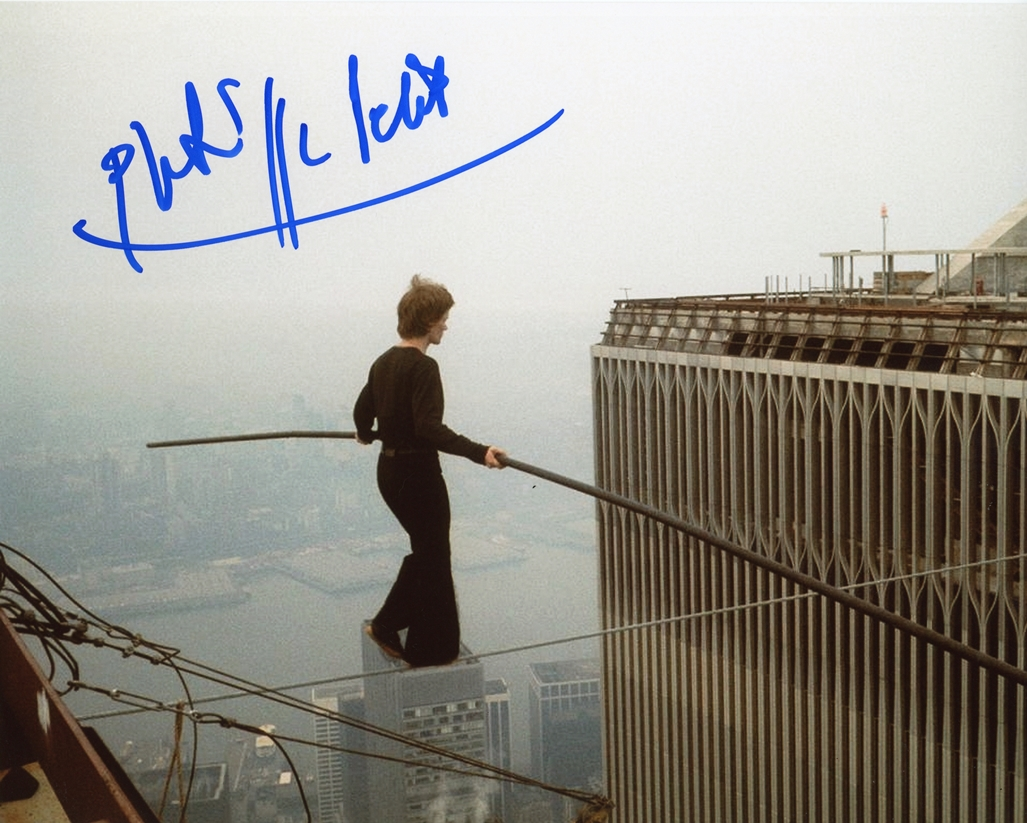 Philippe Petit Signed Photo