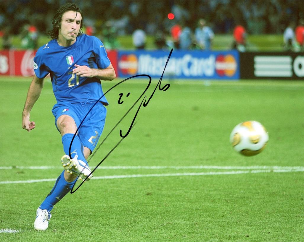 Andrea Pirlo Signed Photo