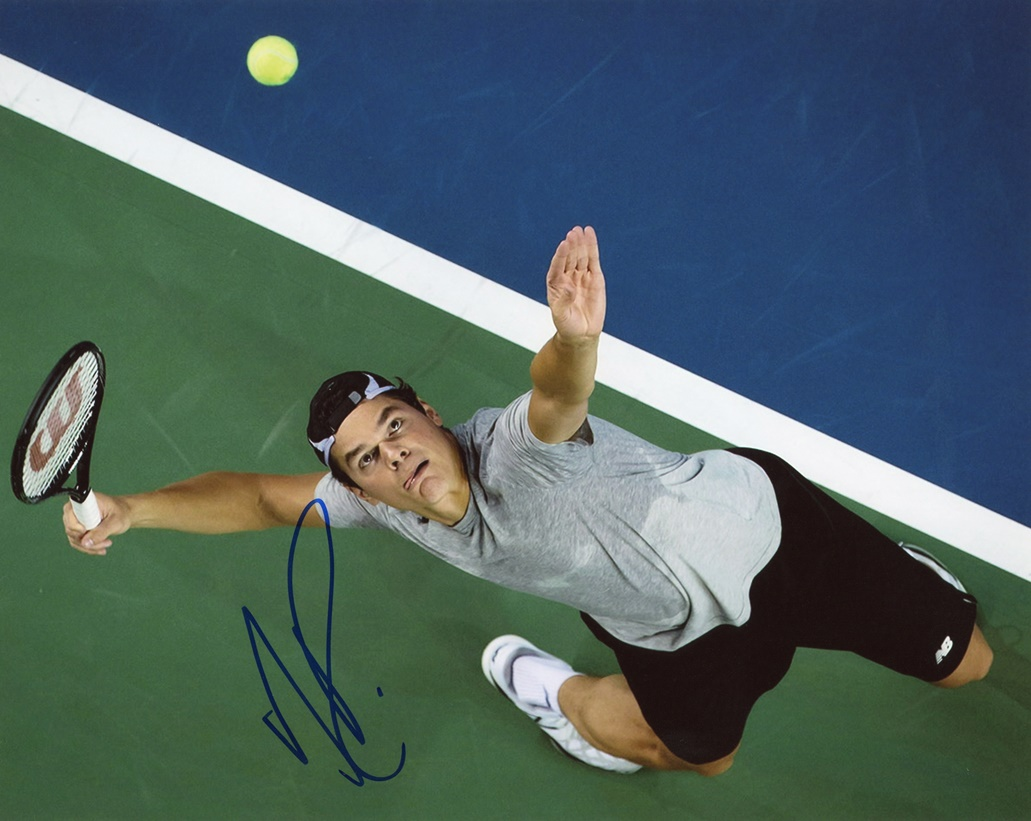 Milos Raonic Signed Photo