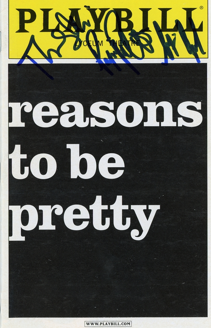 reasons to be pretty Signed Playbill