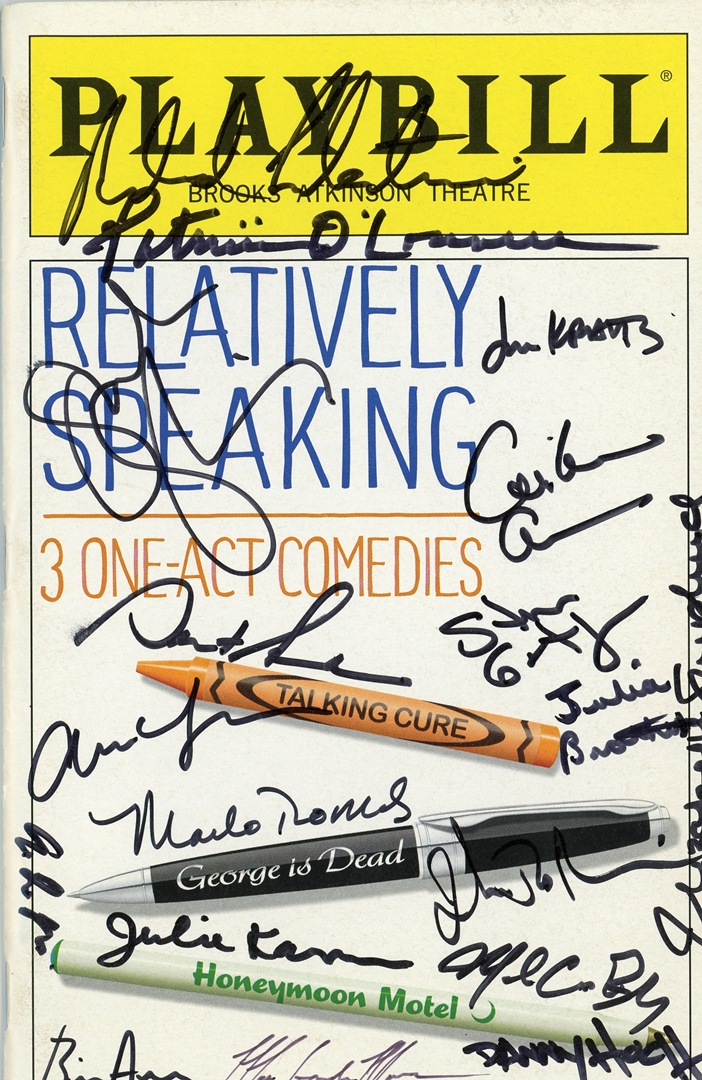 Relatively Speaking Signed Playbill