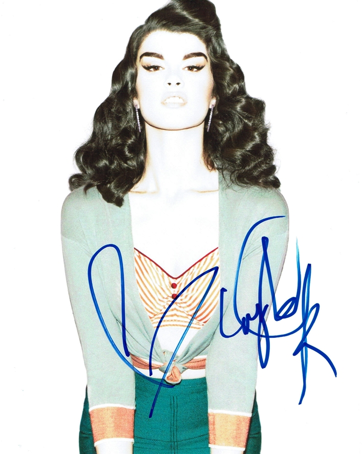 Crystal Renn Signed Photo