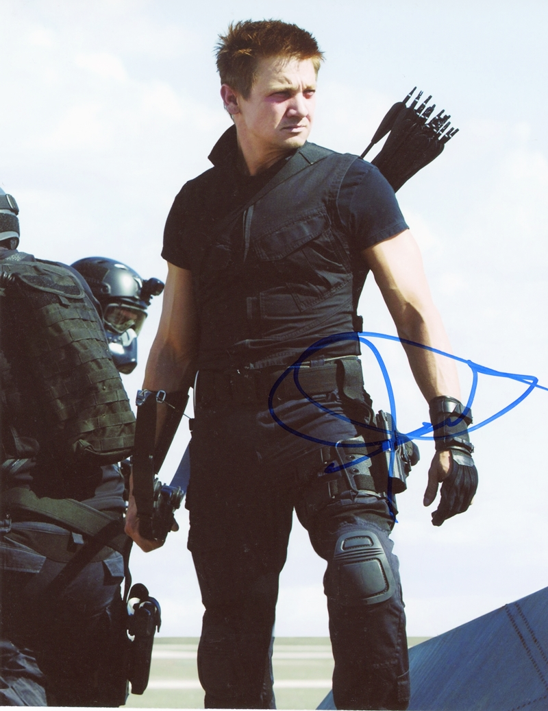 Jeremy Renner Signed Photo