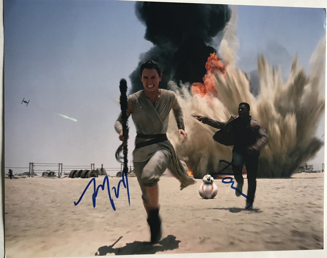 Daisy Ridley & John Boyega Signed Photo