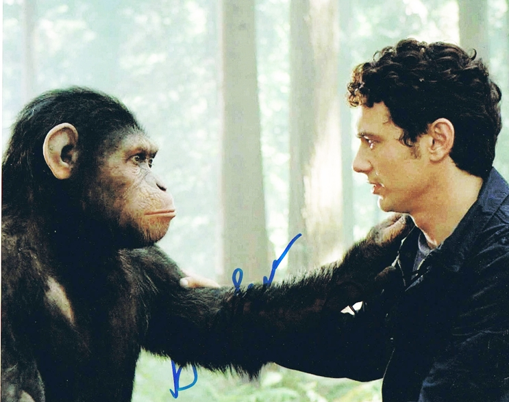 James Franco & Andy Serkis Signed Photo