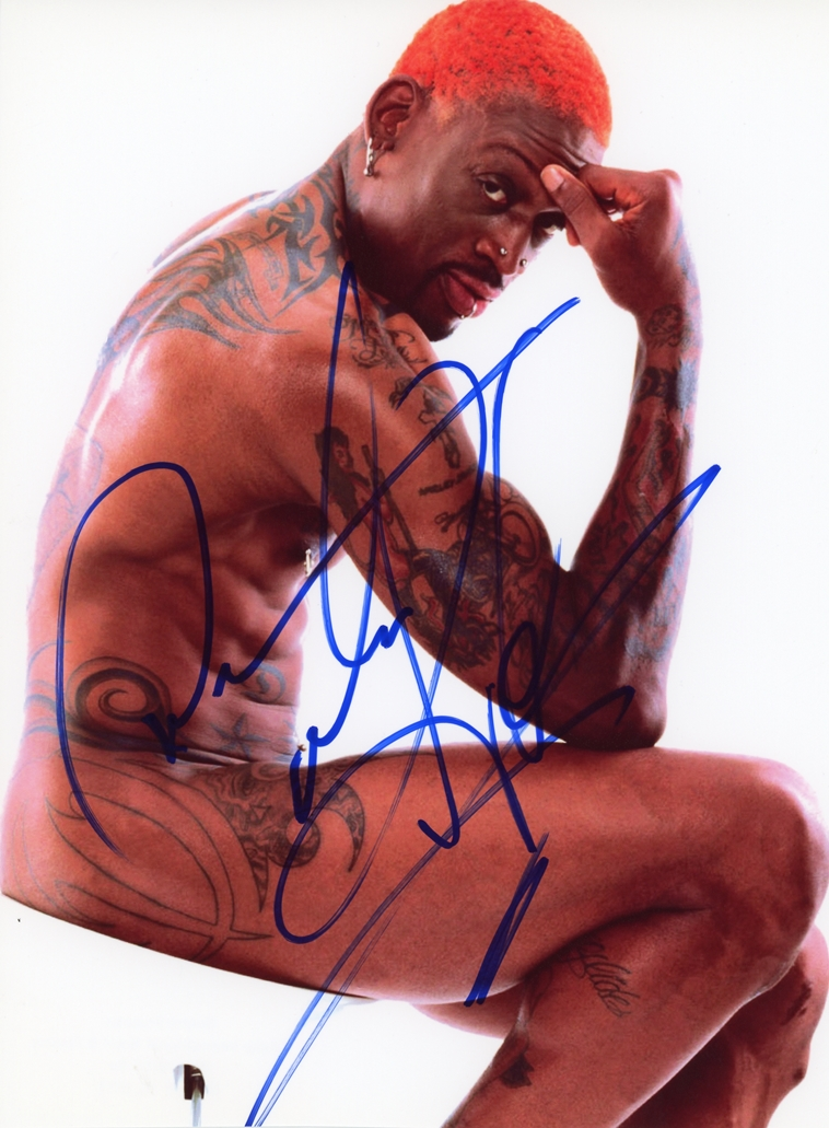 Dennis Rodman Signed Photo