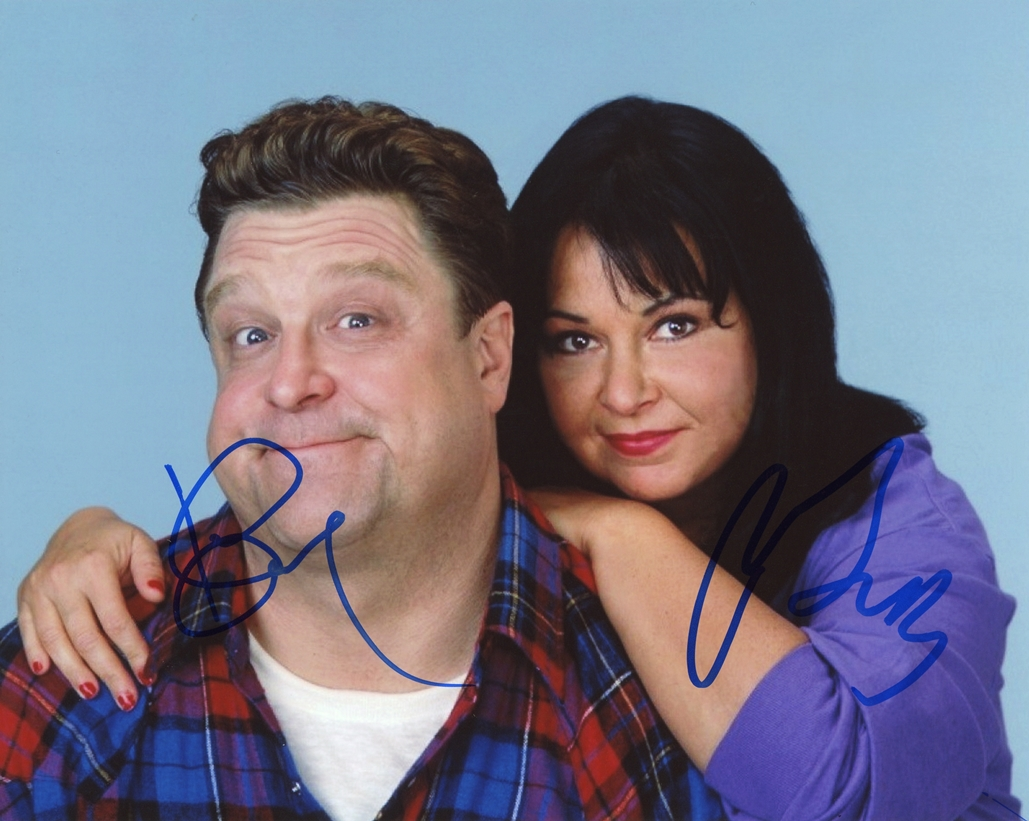 Roseanne Barr & John Goodman Signed Photo