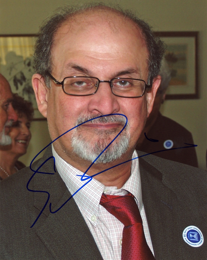 Salman Rushdie Signed Photo
