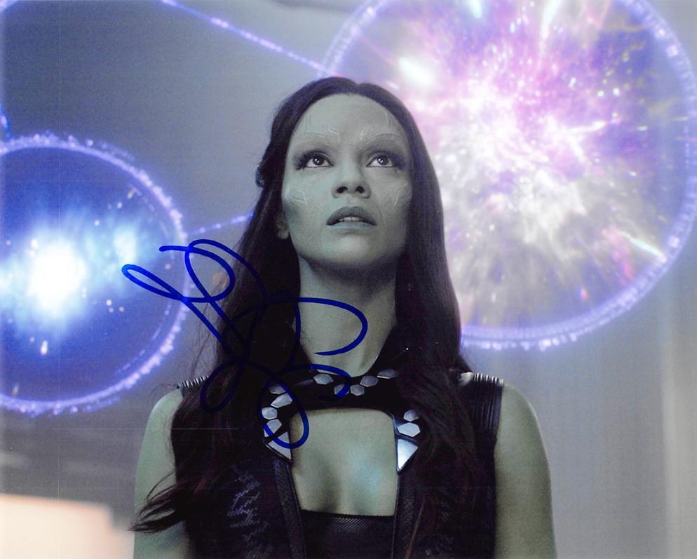Zoe Saldana Signed Photo