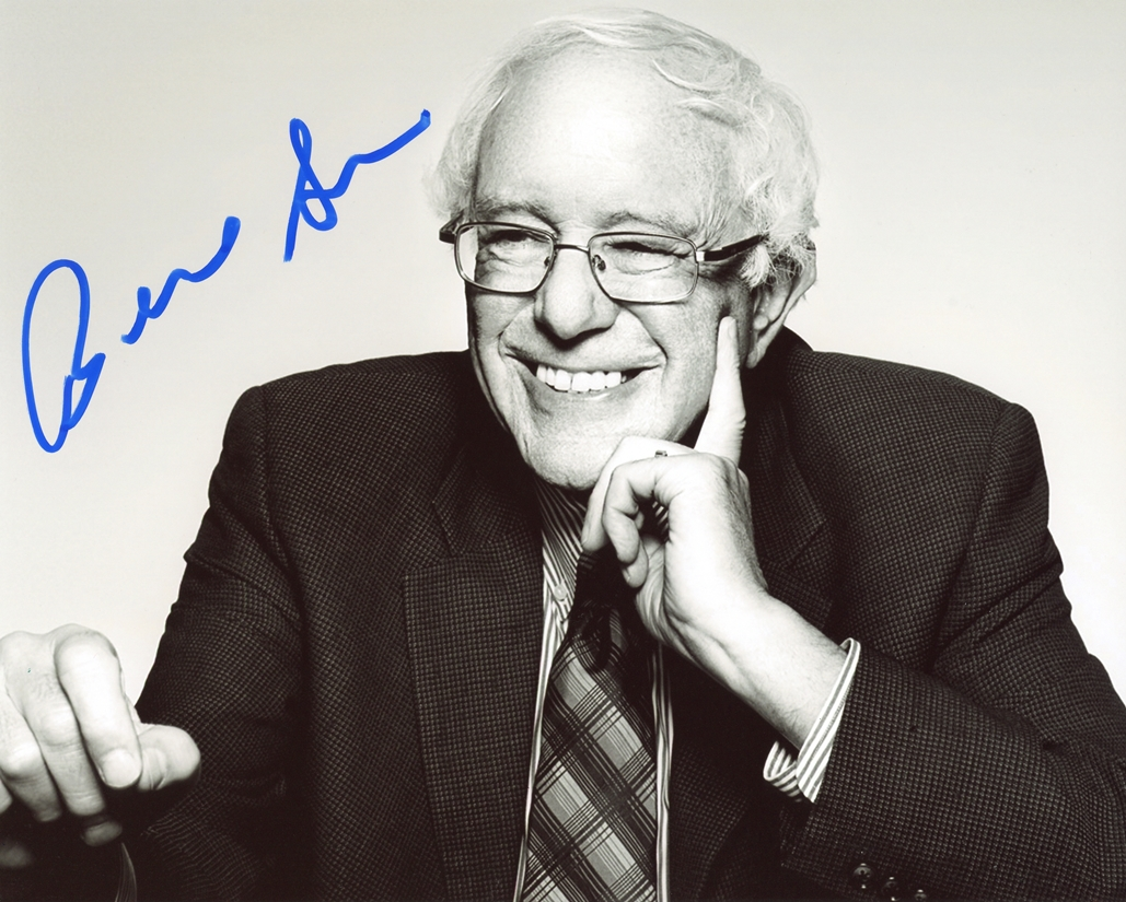Bernie Sanders Signed Photo