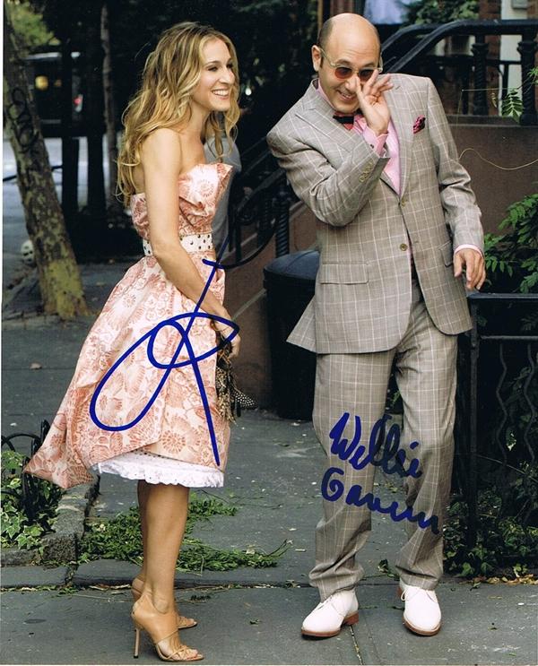 Sarah Jessica Parker & Willie Garson Signed Photo