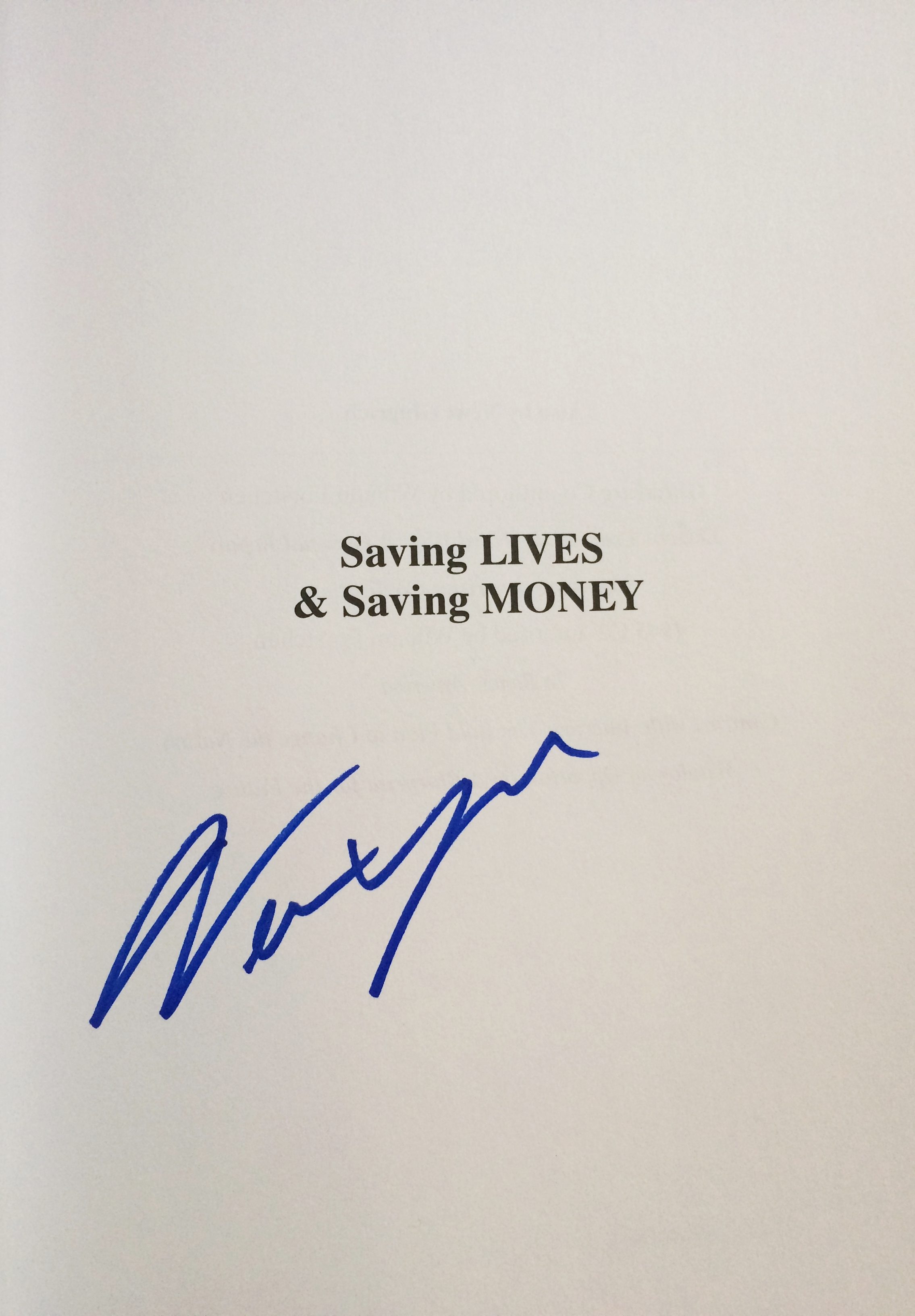 Newt Gingrich Signed Book