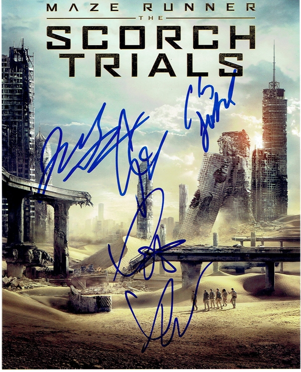 Scorch Trials Signed Photo