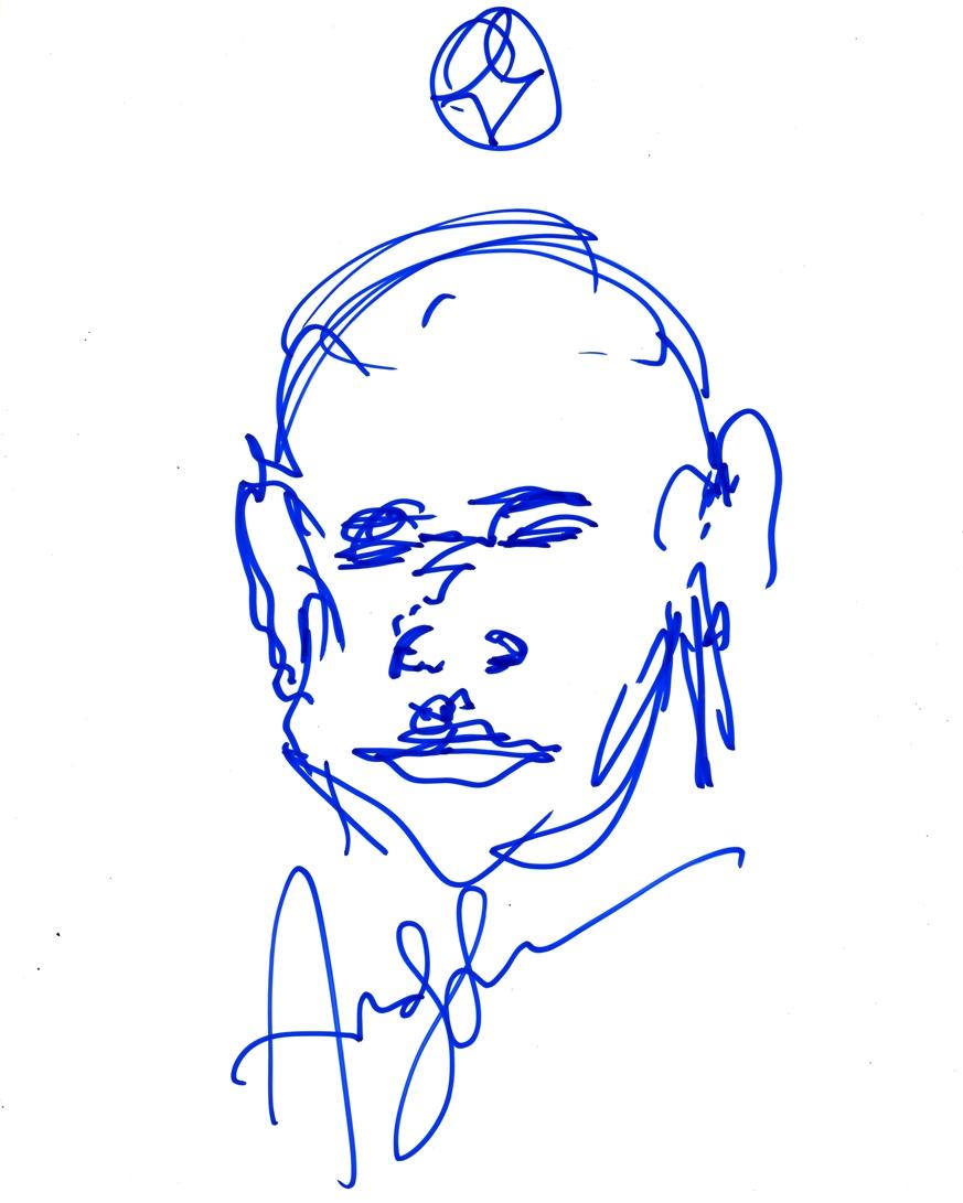 Andy Serkis Signed Sketch