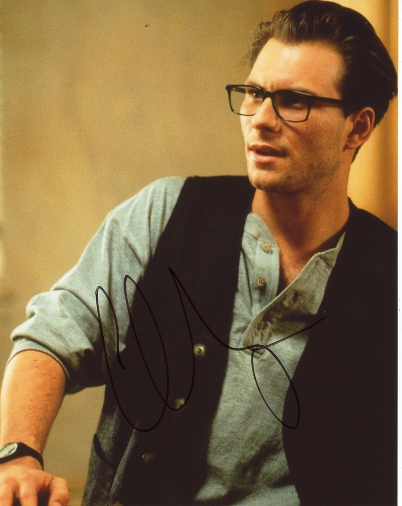 Christian Slater Signed Photo