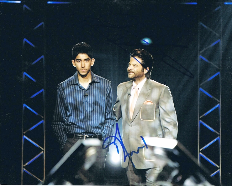 Dev Patel & Anil Kapoor Signed Photo
