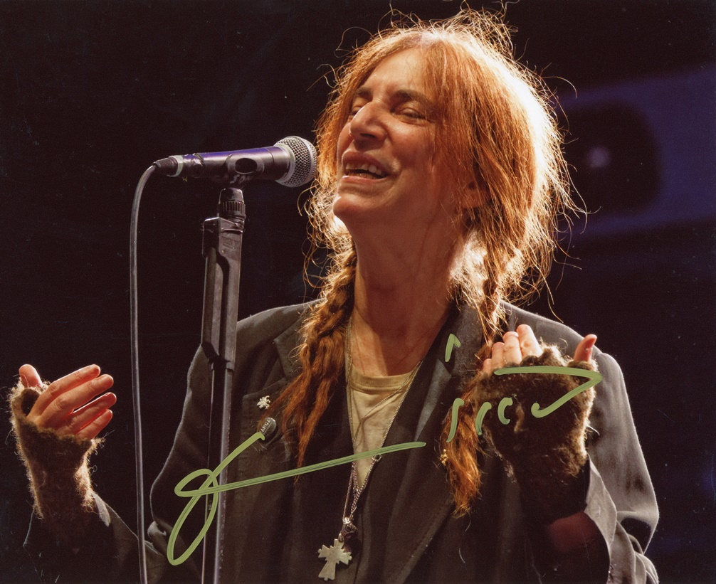 Patti Smith Signed Photo