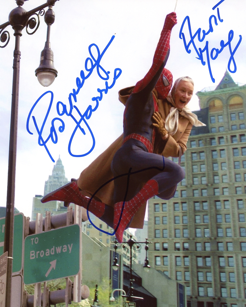 Tobey Maguire & Rosemary Harris Signed Photo