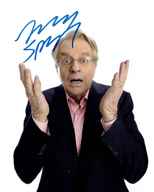 Jerry Springer Signed Photo