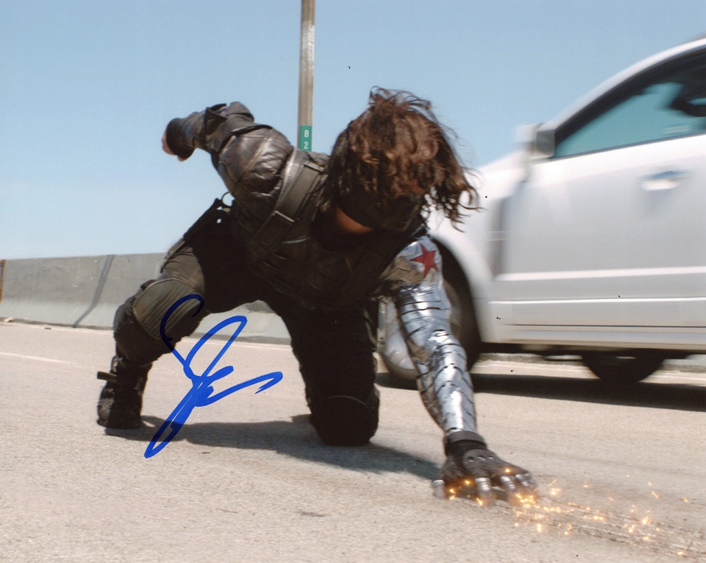 Sebastian Stan Signed Photo