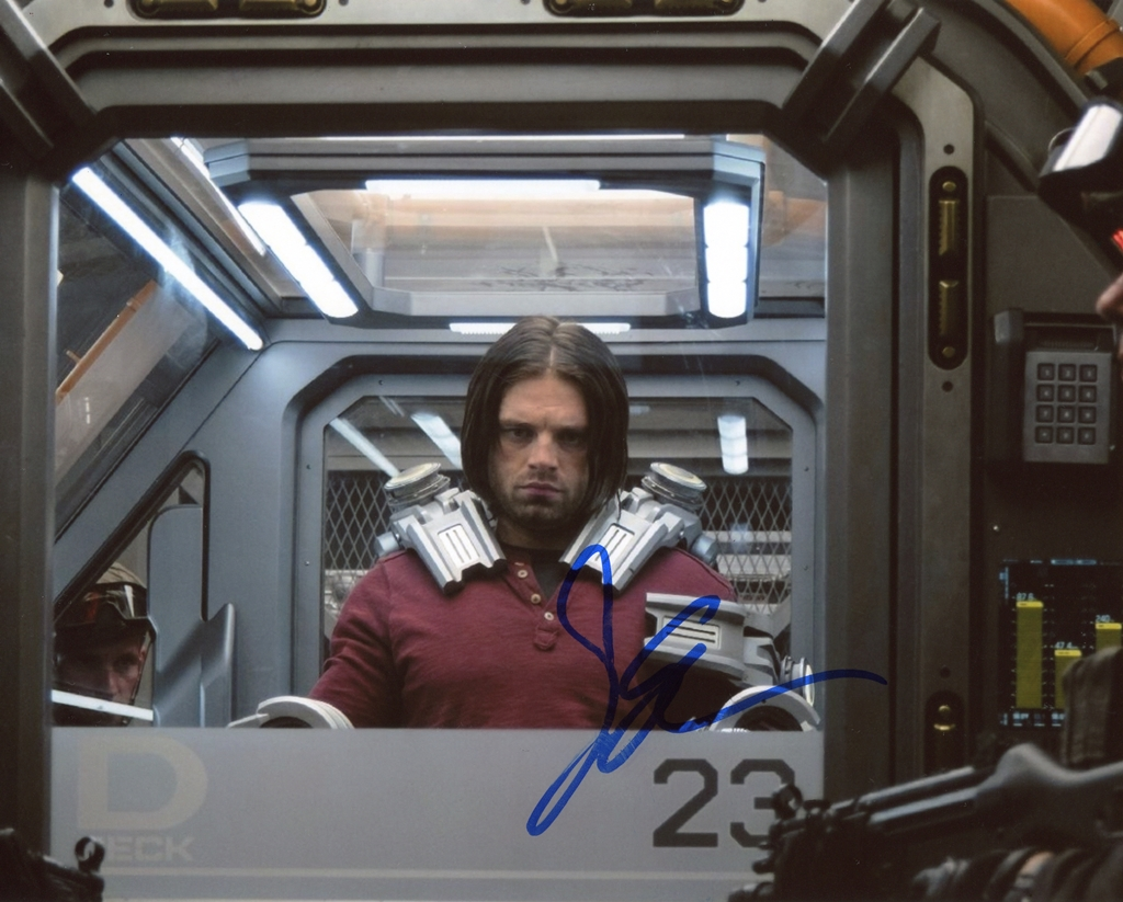 Sebastian Stan Signed Photo