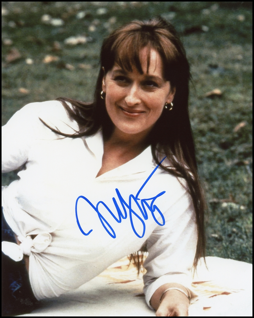 Meryl Streep Signed Photo
