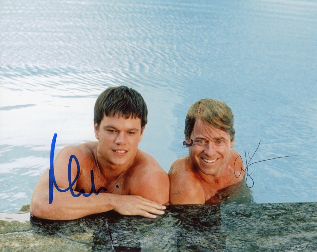Matt Damon & Greg Kinnear Signed Photo