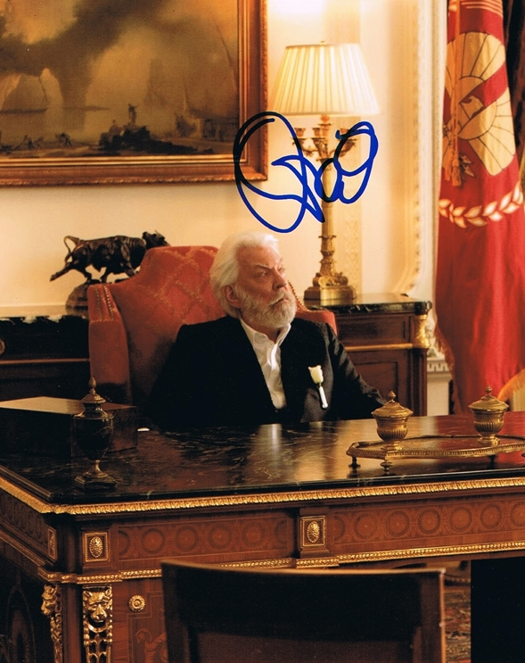 Donald Sutherland Signed Photo
