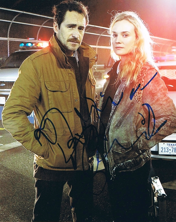 Demian Bichir & Diane Kruger Signed Photo