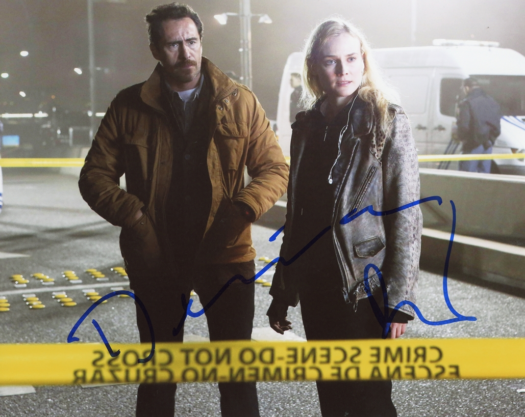 Diane Kruger & Demian Bichir Signed Photo