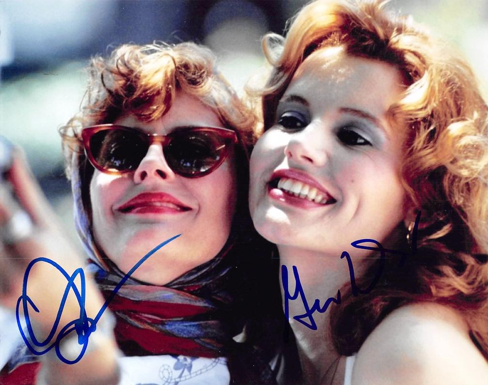 Geena Davis & Susan Sarandon Signed Photo