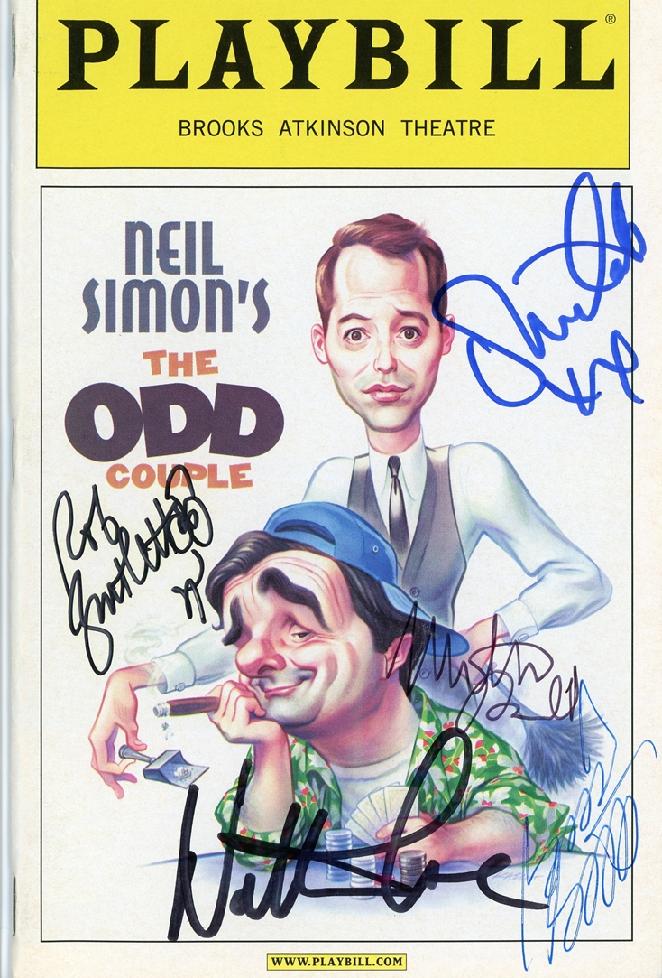 The Odd Couple Signed Playbill