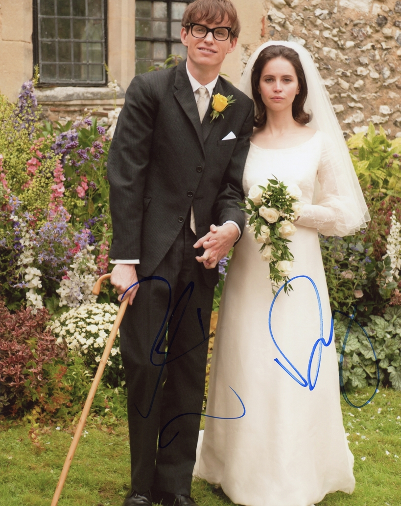 Eddie Redmayne & Felicity Jones Signed Photo