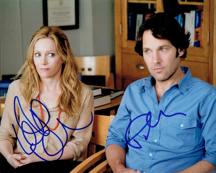 Paul Rudd & Leslie Mann Signed Photo