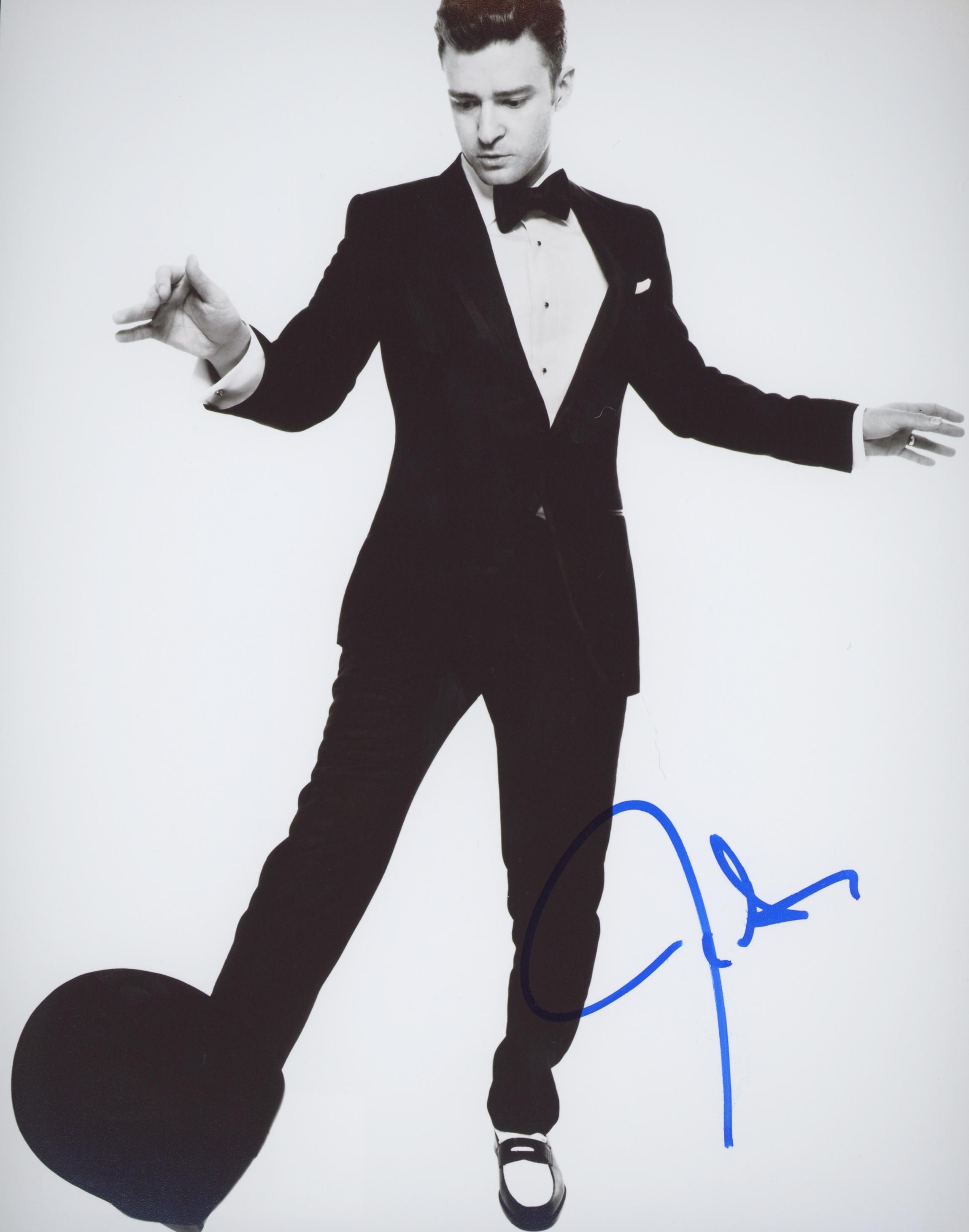 Justin Timberlake Signed Photo