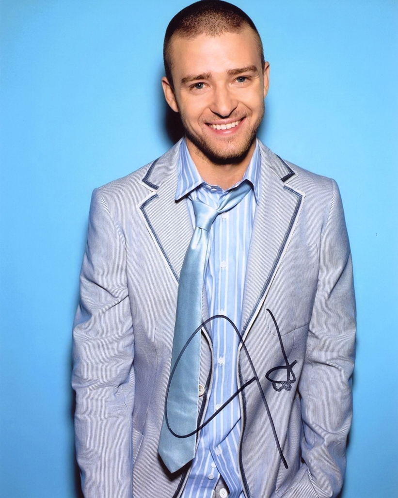 Justin Timberlake Signed Photo