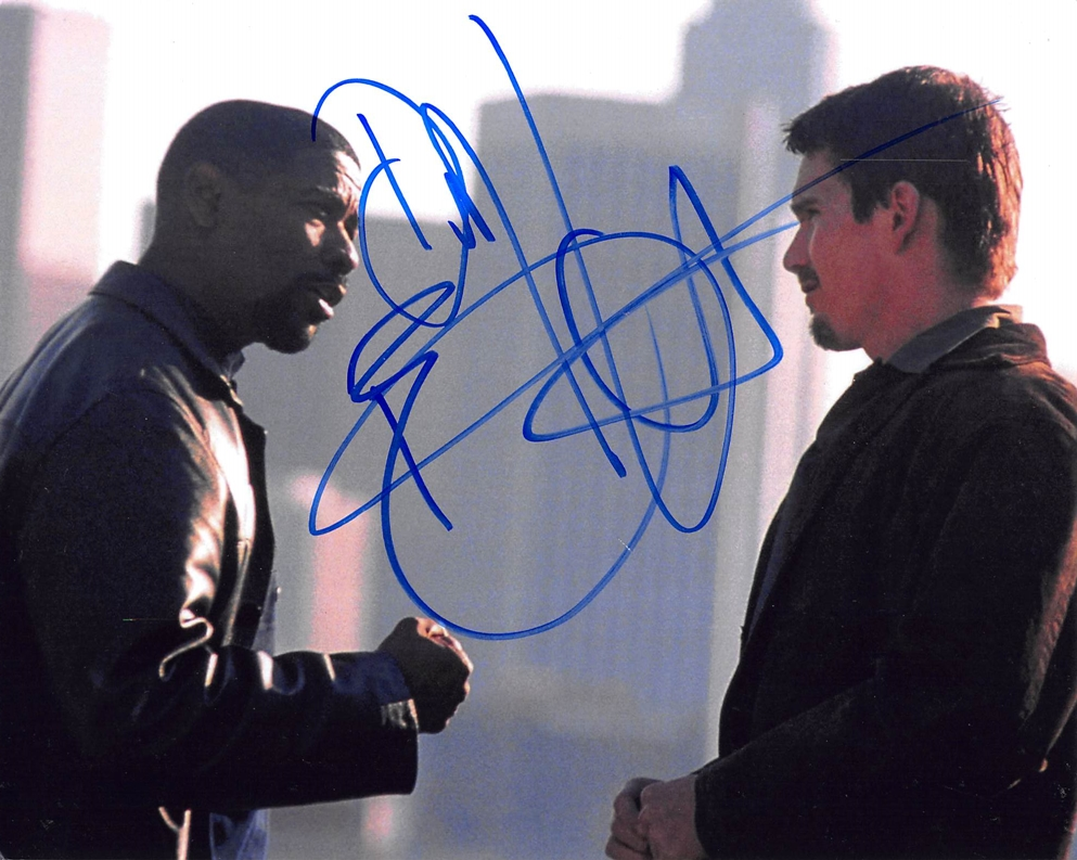 Denzel Washington & Ethan Hawke Signed Photo