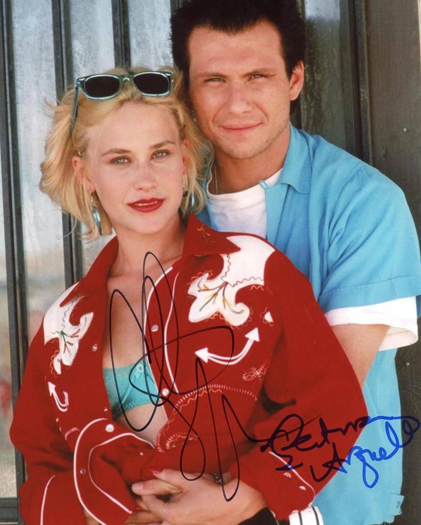 Christian Slater & Patricia Arquette Signed Photo
