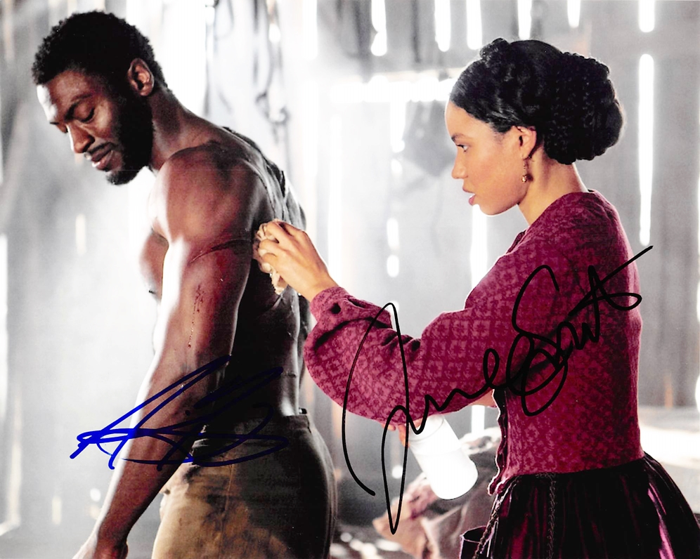 Aldis Hodge & Jurnee Smollett-Bell Signed Photo