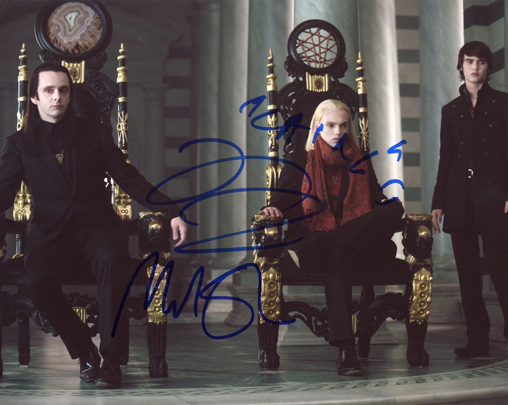 Jamie Campbell Bower & Michael Sheen Signed Photo